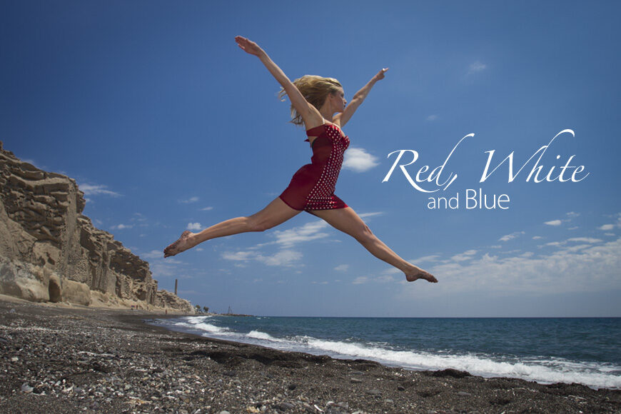 Red White and Blue. Photoshoot and Trash the Dress on Santorini